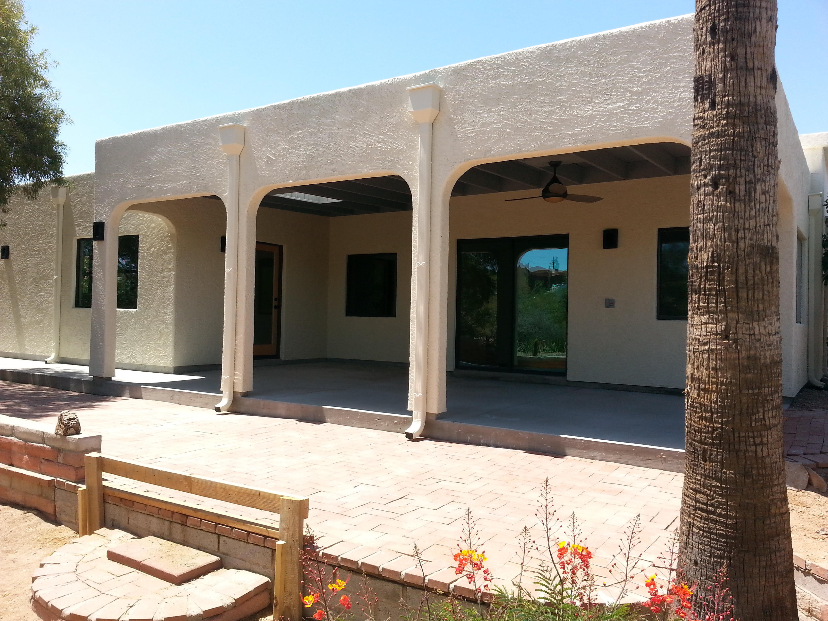 outside patio arches image
