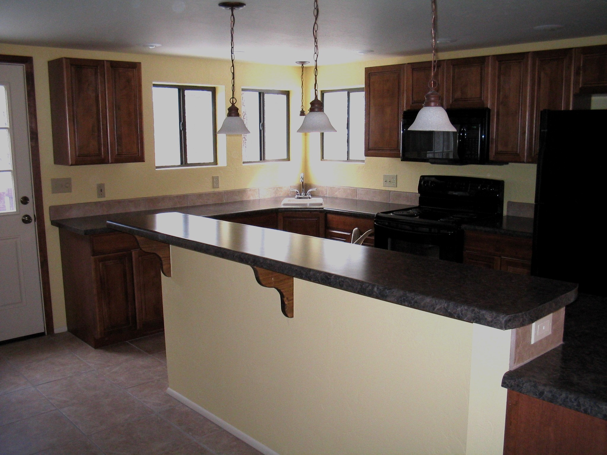 before kitchen island image