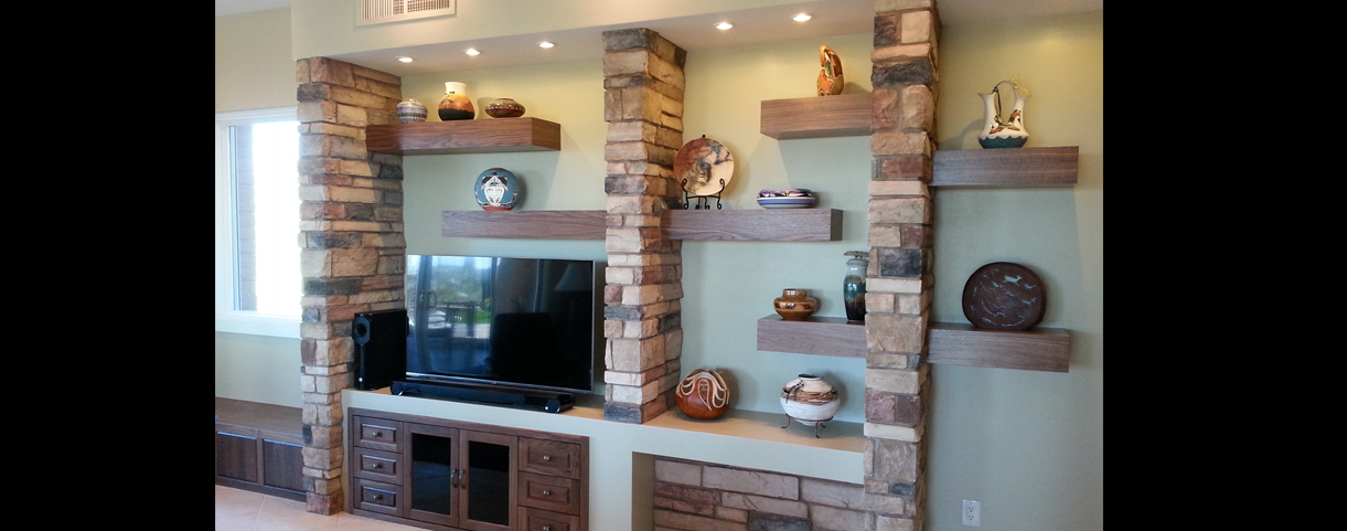 media wall cabinets and shelves